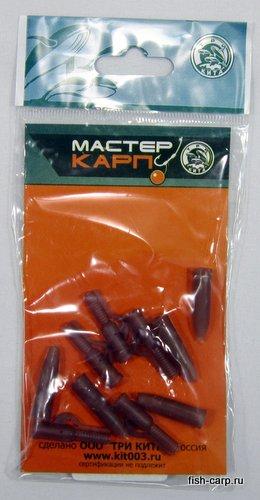 Конус силиконовый + безопасная клипса коричневый (уп/5шт) ТРИ КИТА