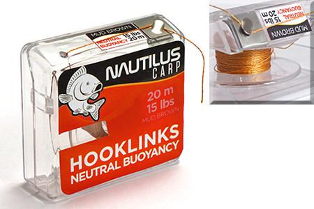 Поводковый материал Nautilus Neutral Buoyancy 15lb 20м Mud Brown