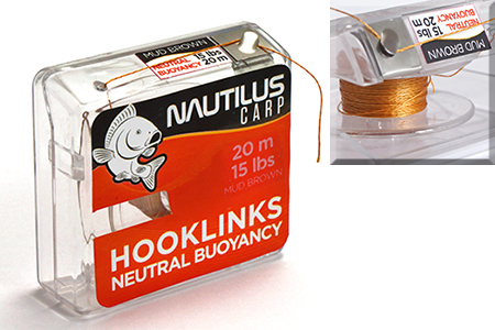 Поводковый материал Nautilus Neutral Buoyancy 25lb 20м Mud Brown