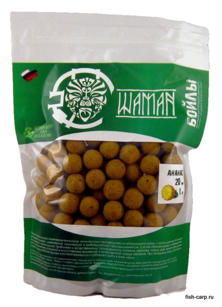 Бойлы вареные Ананас (Pineapple) 1 кг ШАМАН