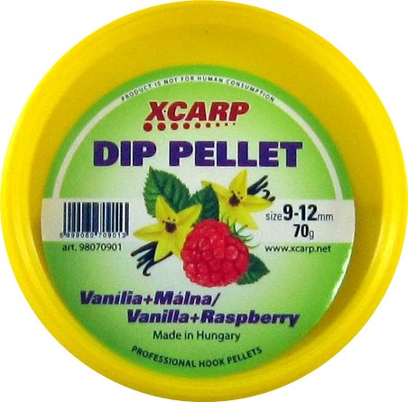 Carp Expert Dip Pellet 70гр Vanilla Raspberry 9-12мм