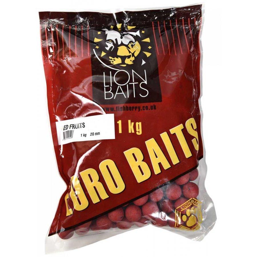 LION BAITS бойлы тонущие серии EURO BAITS 20 мм красные фрукты (Red Fruits) - 1 кг