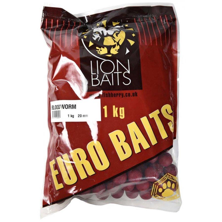 LION BAITS бойлы тонущие серии EURO BAITS 20 мм мотыль (Bloodworm) - 1 кг