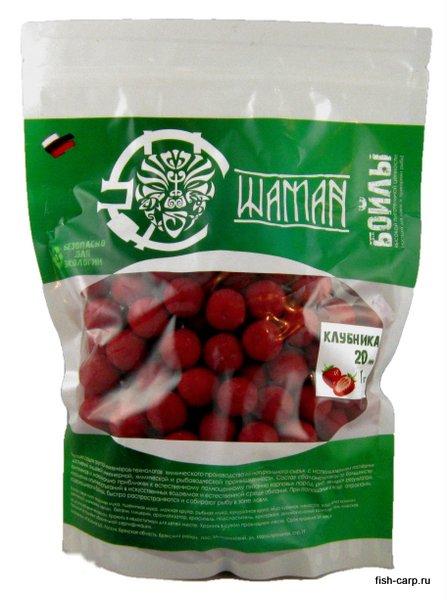 Бойлы вареные Клубника (Strawberry) 1 кг ШАМАН
