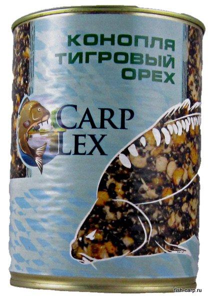 Зерновая смесь CarpLex (тигровый орех колотый, конопля) 1л.