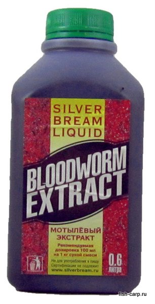 Silver Bream Liquid Bloodworm Extract 0,6л (Мотыль)