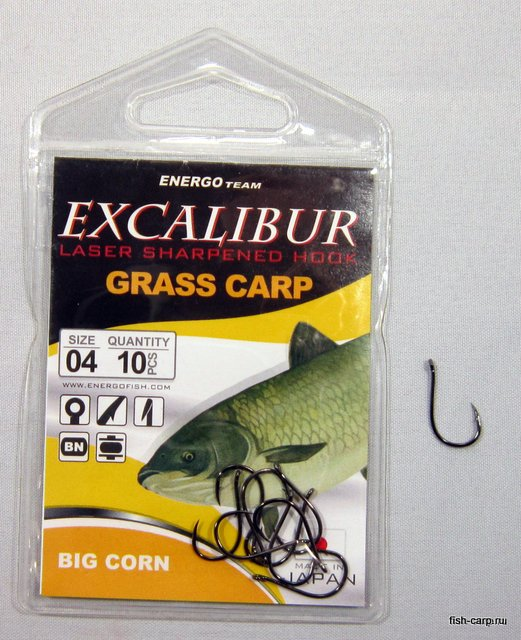 Крючки EXCALIBUR HOOK BIG CORN NS 4