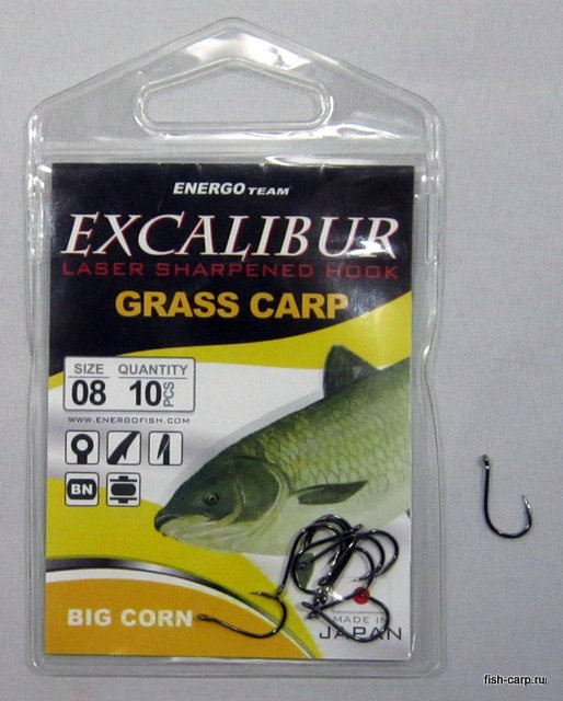 Крючки EXCALIBUR HOOK BIG CORN NS 8