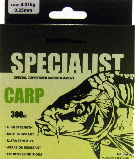 Леска EnergoTeam Specialist Carp 300м 0,25мм