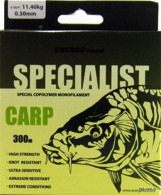 Леска EnergoTeam Specialist Carp 300м 0,3 мм