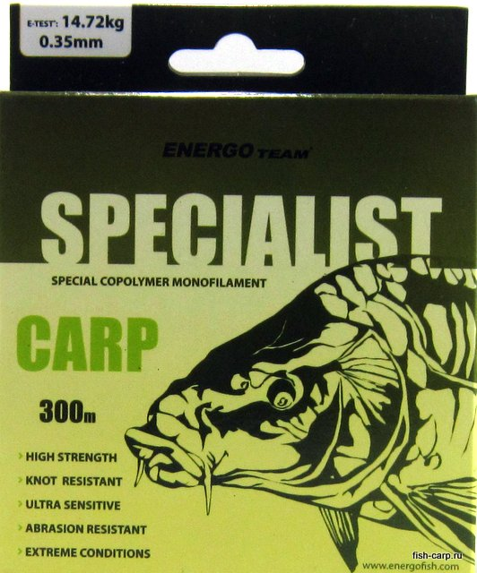 Леска EnergoTeam Specialist Carp 300м 0,35мм