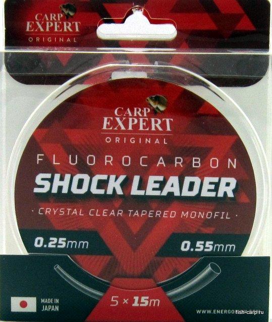 Шок-лидер флюорокарбоновый Carp Expert Fluorocarbon Shock Leader 5х15м 0.25-0.55мм
