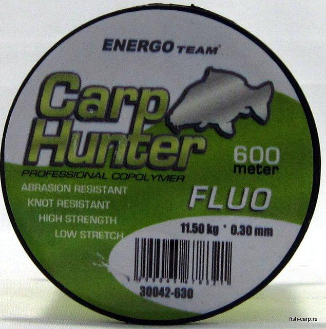 Леска Carp Hunter Fluo 600м 0,30мм 11.5кг EnergoTeam