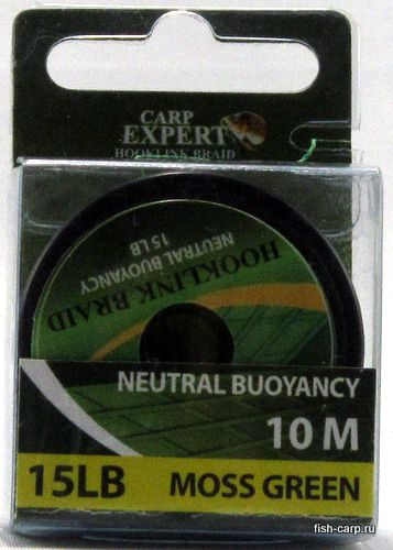 Поводочный Материал Carp Expert Neutral Buoyancy 15Lbs Moss Green 10м