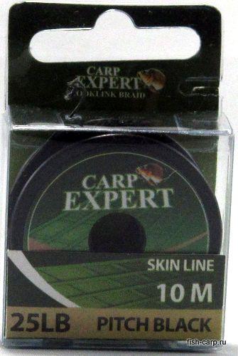Поводочный Материал в Оболочке Carp Expert Skin Line 25Lbs Pitch Black 10м