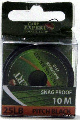 Поводочный Материал Carp Expert Snag Proof 25Lbs Pitch Black 10м