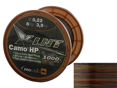ЛЕСКА PROLOGIC XLNT HP 1000M D-0.33MM 7,4KG 16LBS КАМУФЛЯЖ, ТОНУЩАЯ