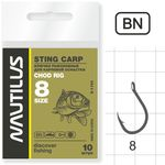 Крючок Nautilus Sting Carp Chod rig S-1140 BN № 8