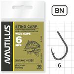 Крючок Nautilus Sting Carp Wide gape S-1142BN № 6
